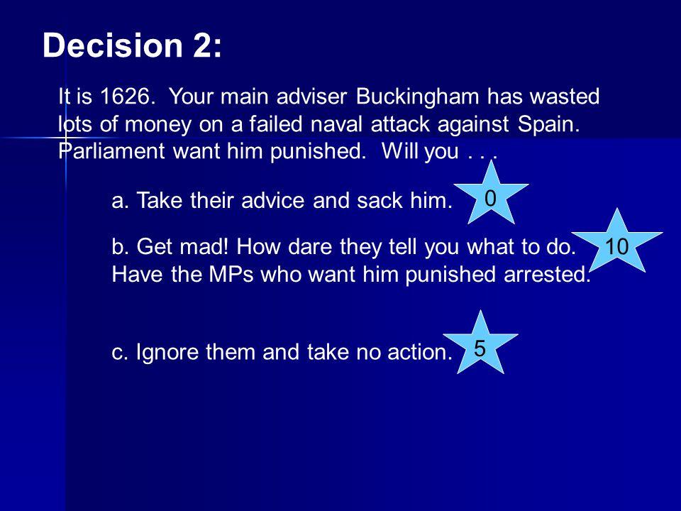 Decision 12: It is April 1640.Charles calls Parliament.
