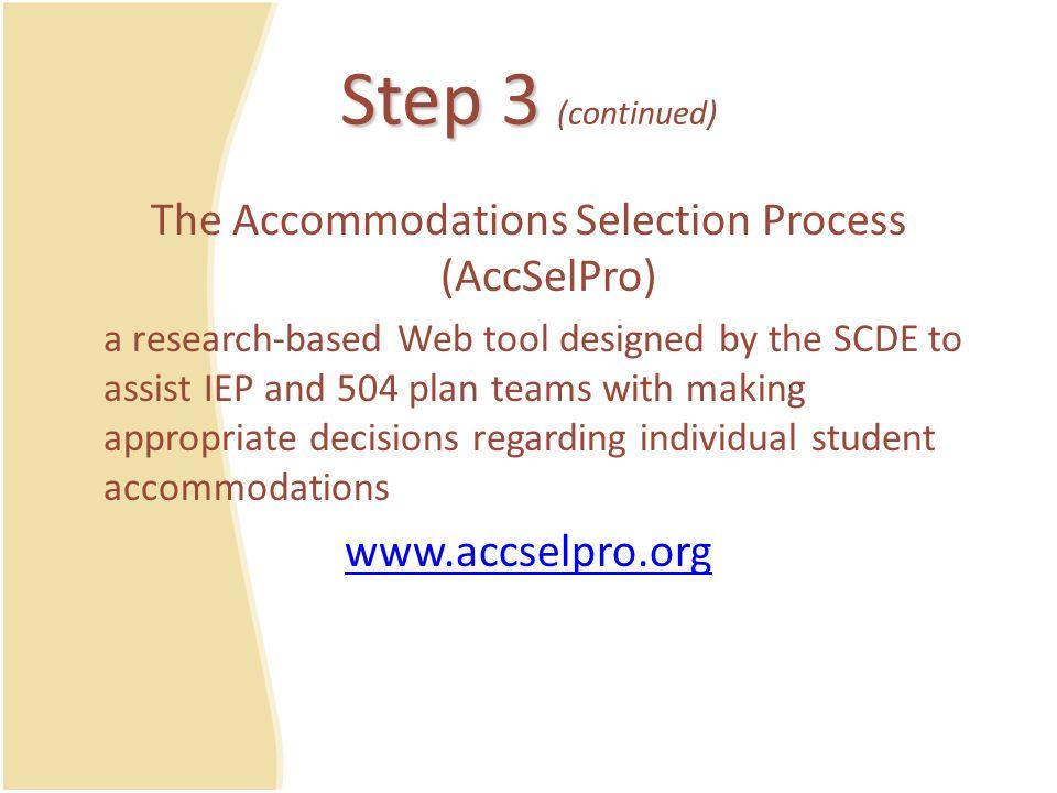 AccSelPro Sample Report https://dev.ed.sc.gov/apps/accselpro/com/slms/forms/accselpro7reportpdf.cfm?Sid=399