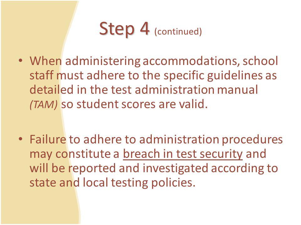 Additional Resources – Teacher Tool 3: Assessment Accommodations Plan – Teacher Tool 4: Assessment Accommodations Agreement – Teacher Tool 5: Logistics Planning Checklist