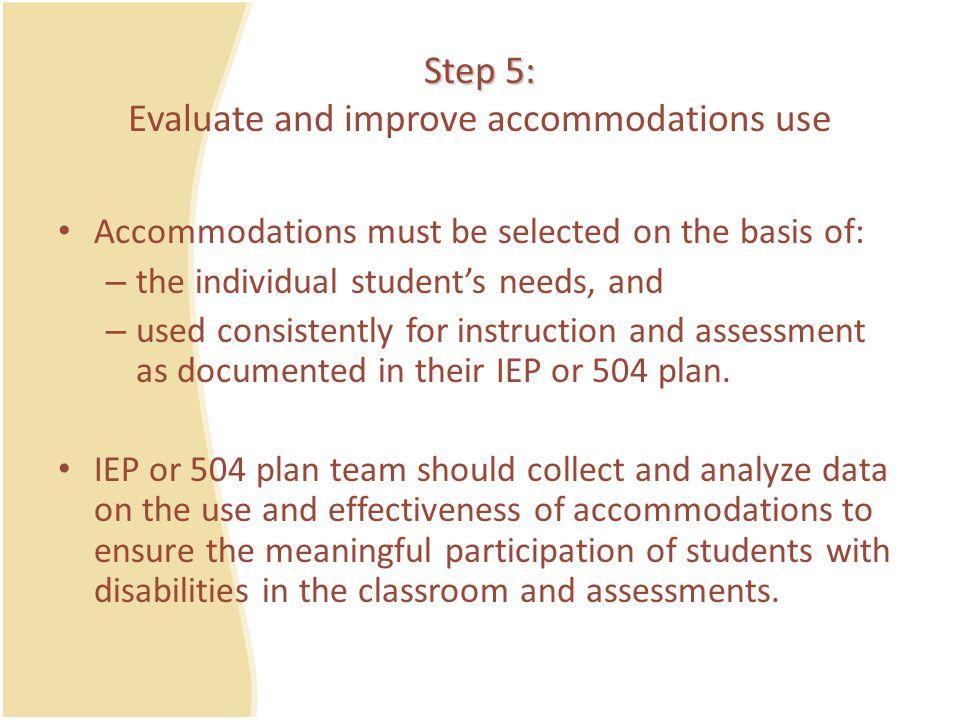 Additional Resource – Teacher Tool 6: Accommodations Journal