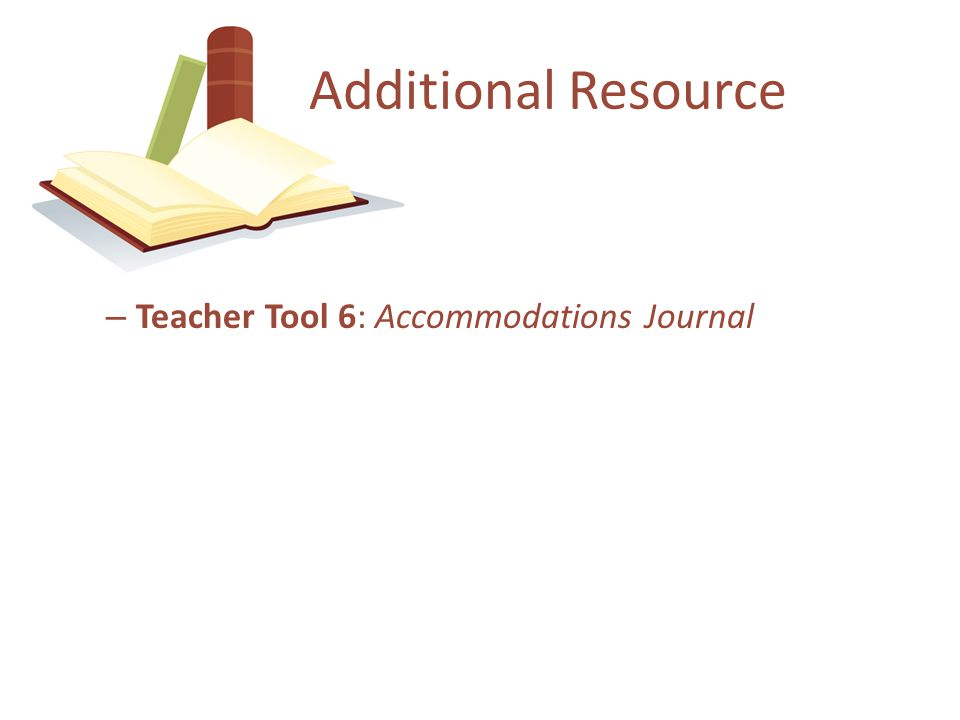 Documenting Accommodations in the IEP What IEP team members need to know