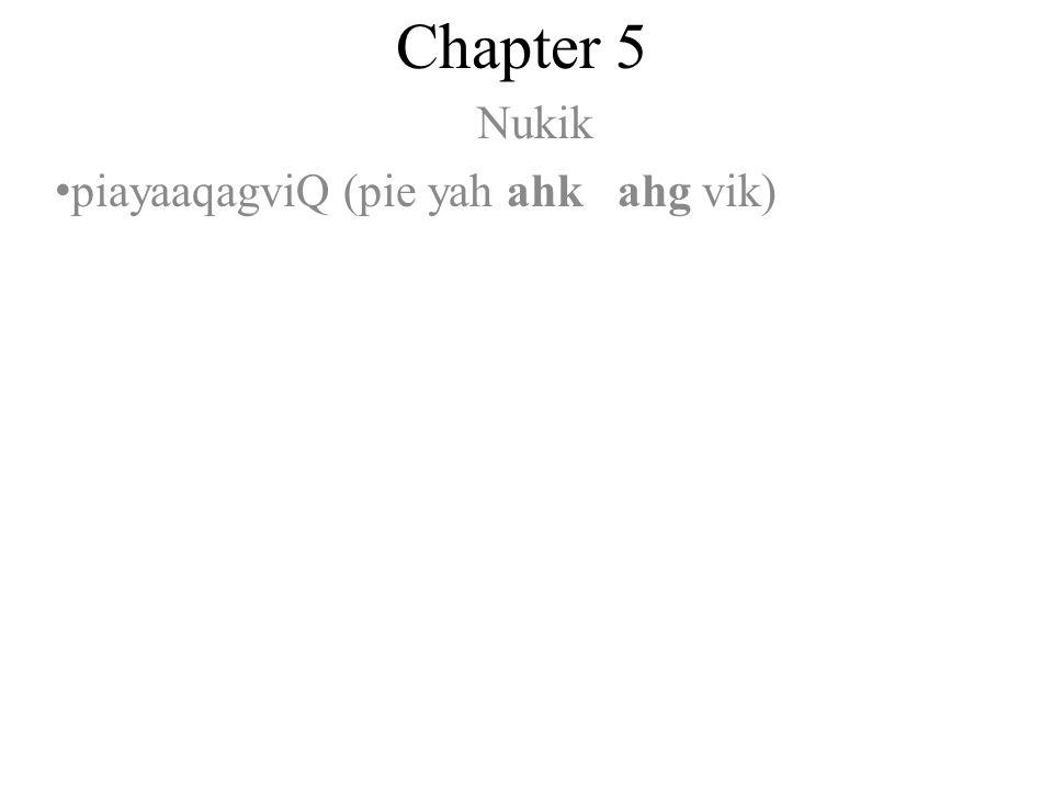 Chapter 5 Nukik piayaaqagviQ (pie yah ahk ahg vik)