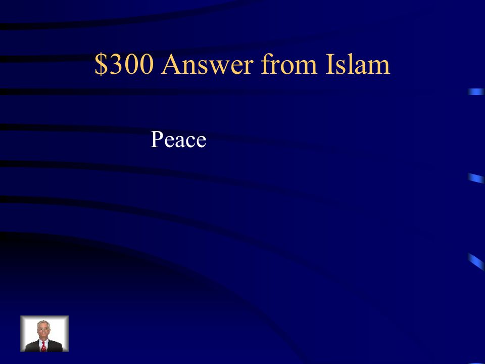 $300 Question from Islam The word Islam means this