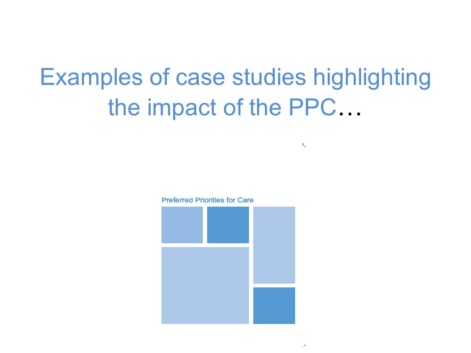 Examples of case studies highlighting the impact of the PPC …