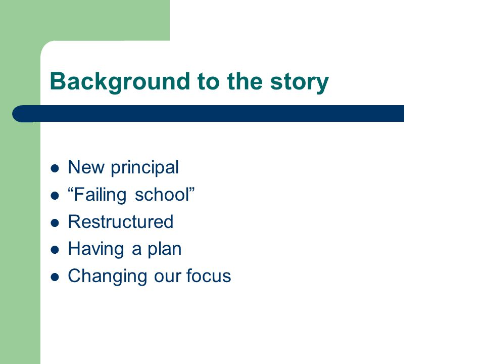 The old model: We are a failing school.The new model: We made AYP by making Safe Harbor.