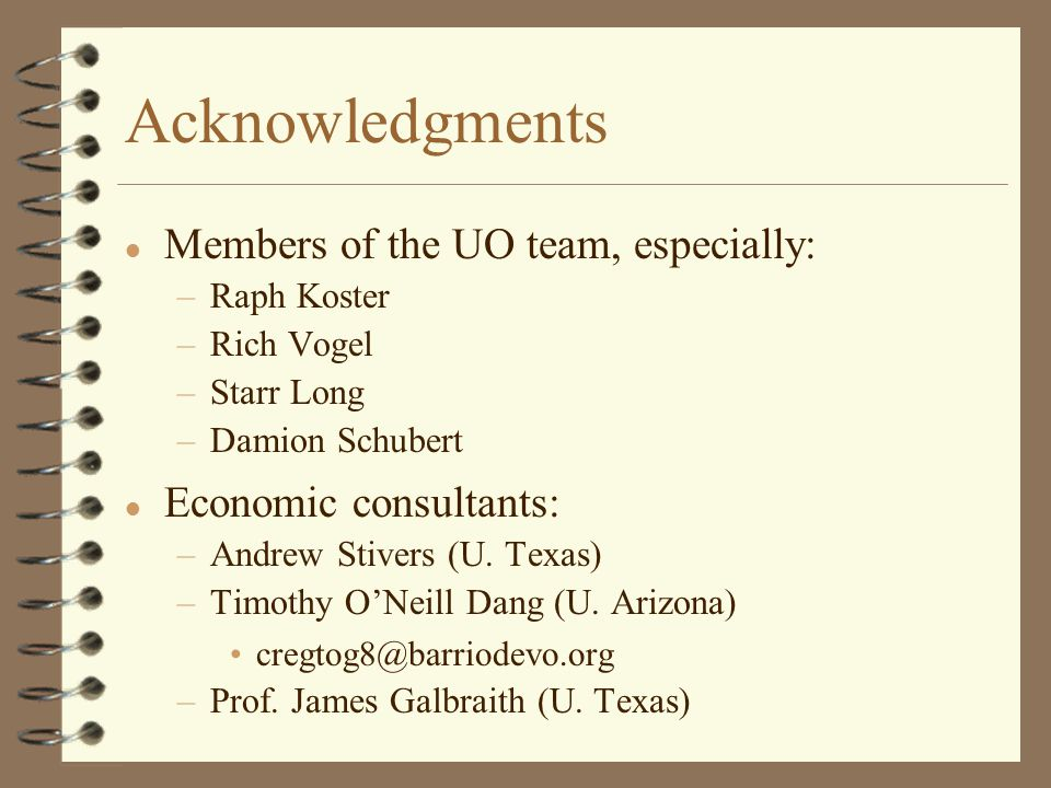 Acknowledgments l Members of the UO team, especially: –Raph Koster –Rich Vogel –Starr Long –Damion Schubert l Economic consultants: –Andrew Stivers (U.