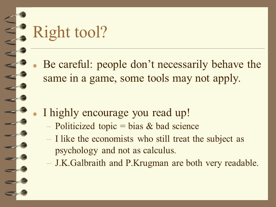 Right tool.