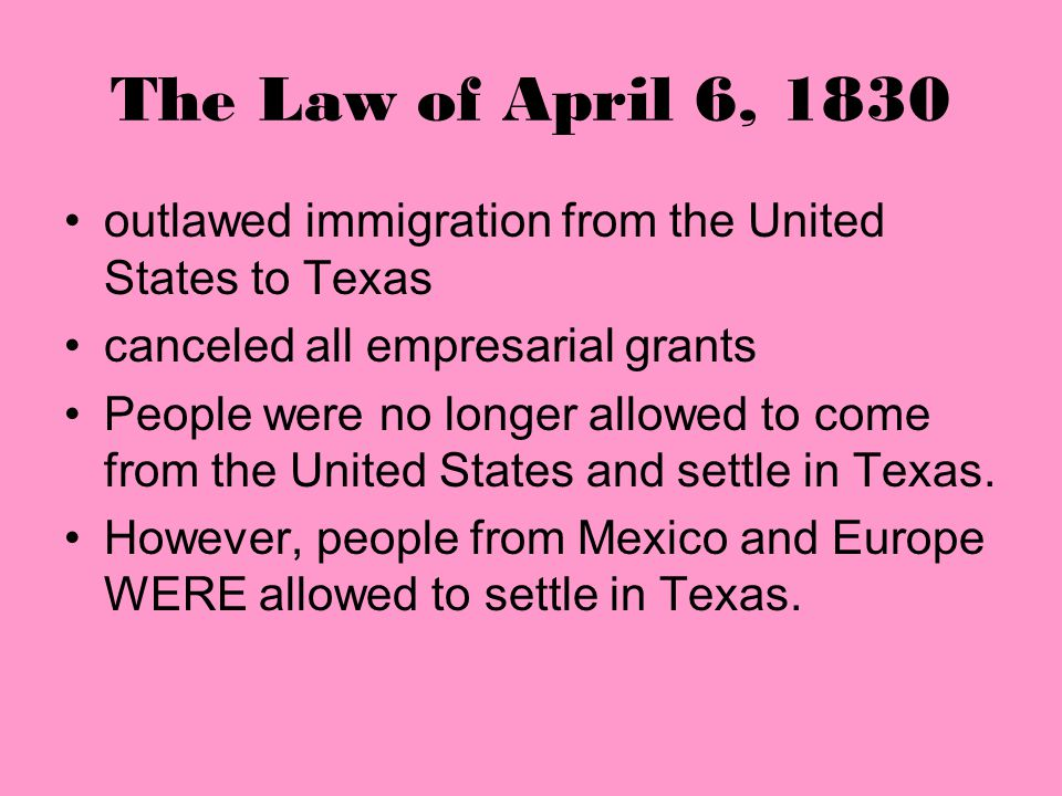 The Mier y Teran Report Mier y Teran's report claimed that there were many more American settlers then Mexican settlers in Texas. He said that the Uni