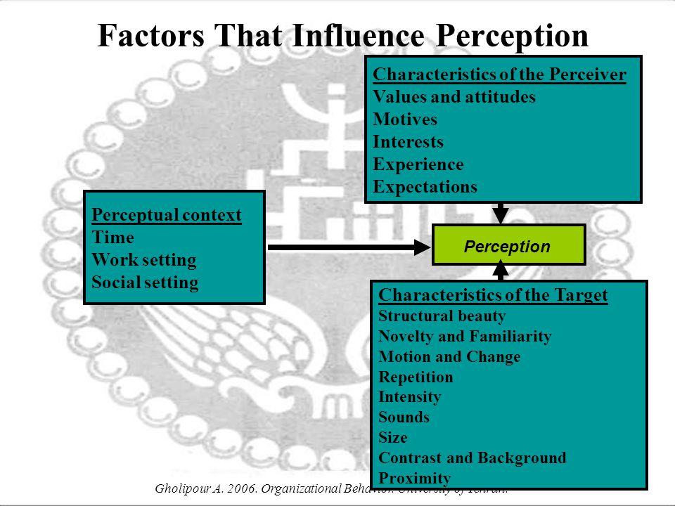 Gholipour A. 2006. Organizational Behavior. University of Tehran.