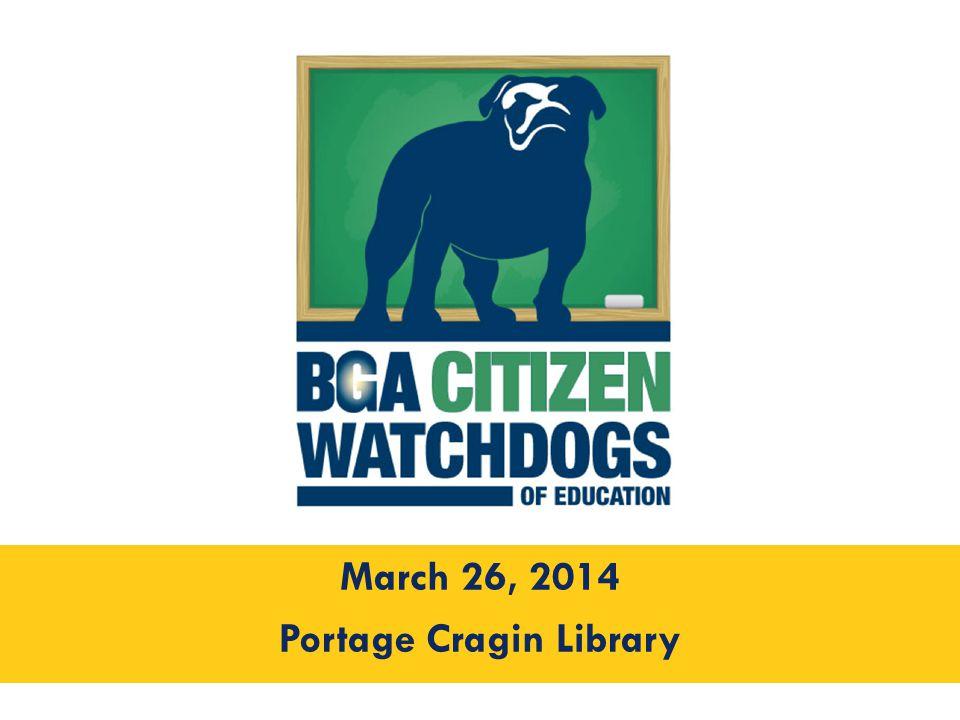 March 26, 2014 Portage Cragin Library