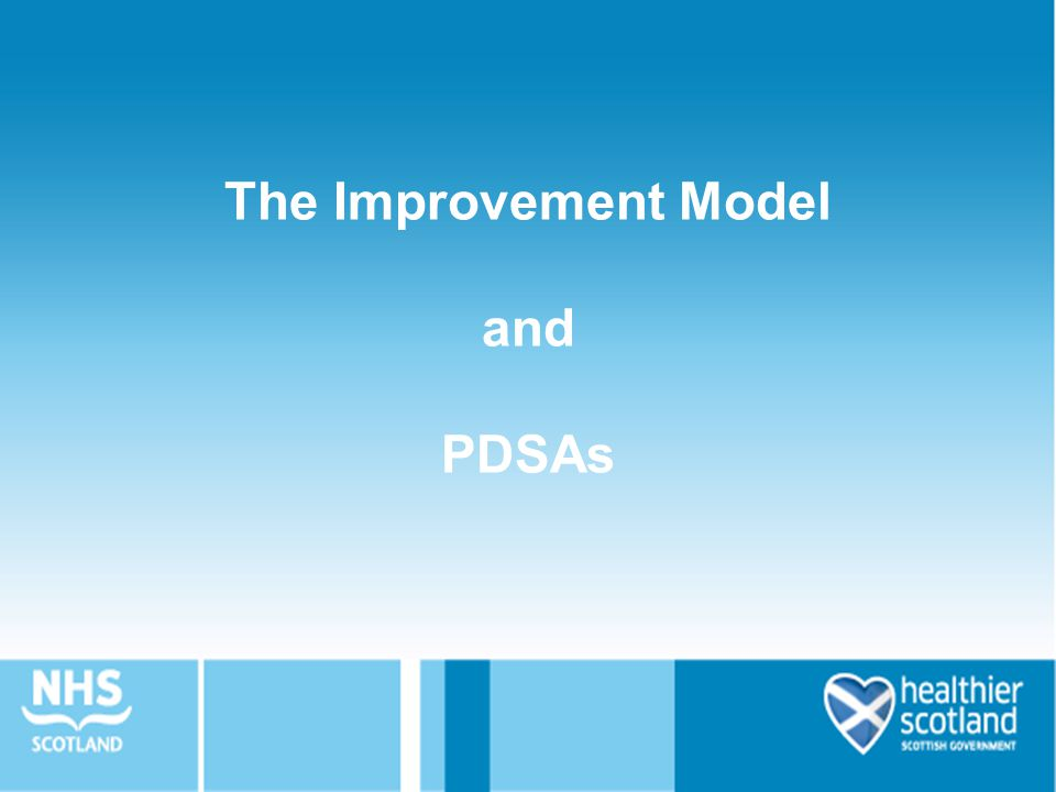 The PDSA Cycle You need to take time to consider the following prior to undertaking your first PDSA: What are you trying to accomplish.