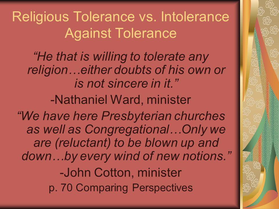 Religious Tolerance vs.