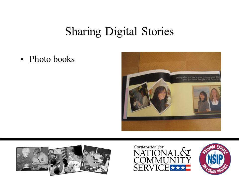 Sharing Digital Stories Photo books
