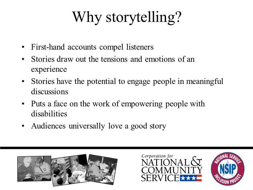 Why storytelling.