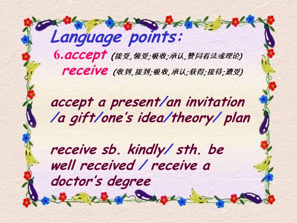 Language points: 6.