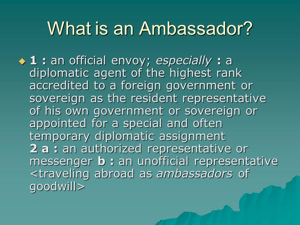 What is an Ambassador.