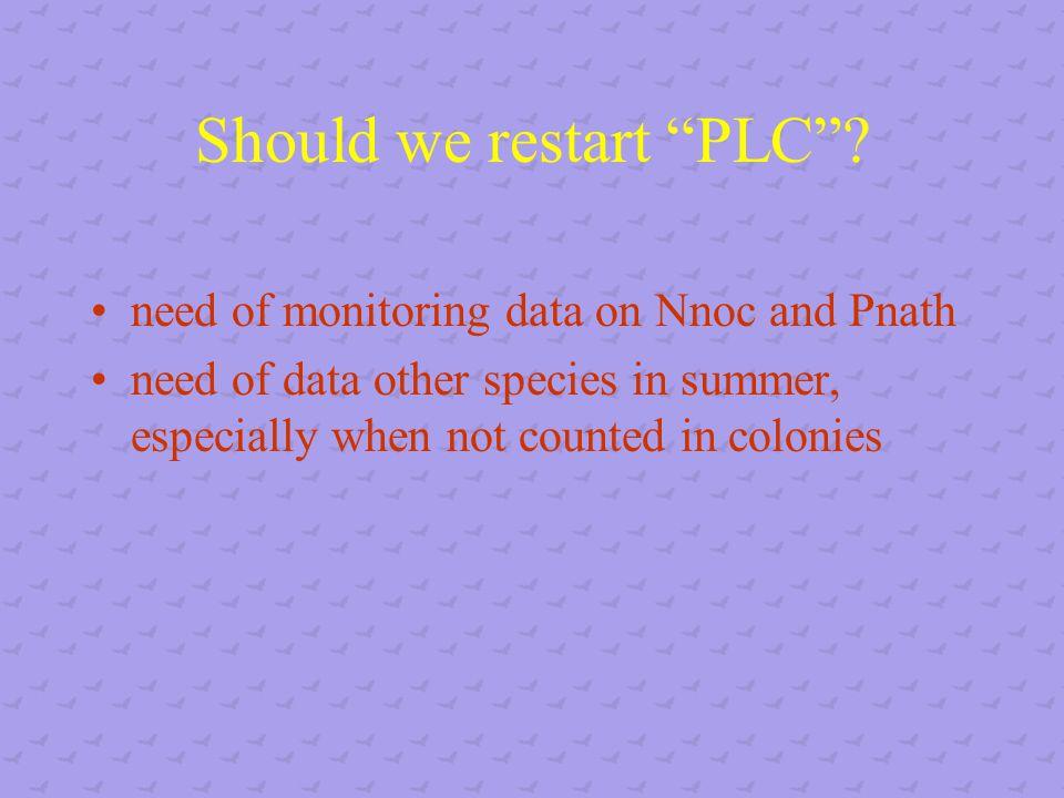Should we restart PLC .