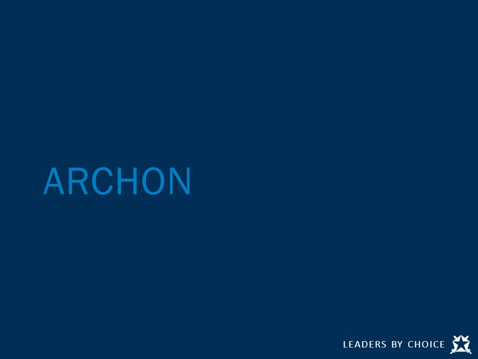 LEADERS BY CHOICE ARCHON