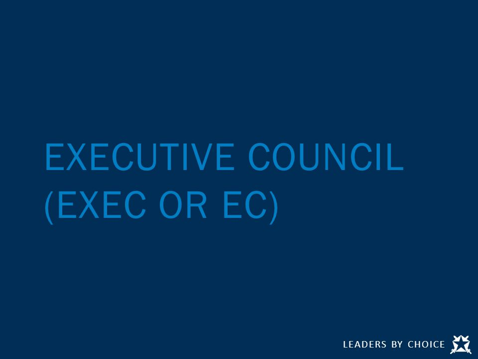 LEADERS BY CHOICE EXECUTIVE COUNCIL (EXEC OR EC)