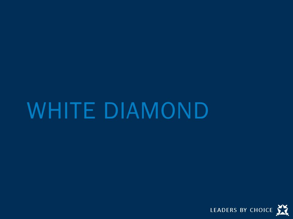 LEADERS BY CHOICE WHITE DIAMOND