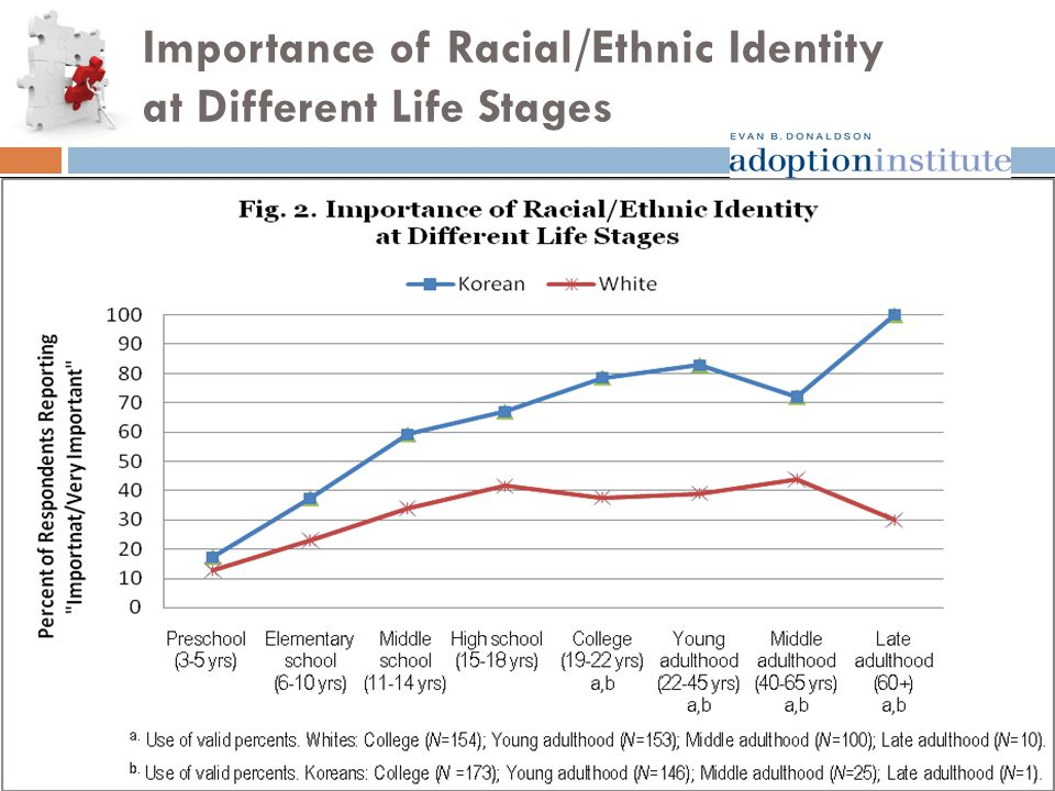Importance of Racial/Ethnic Identity at Different Life Stages