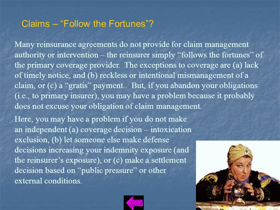 Claims – Follow the Fortunes .