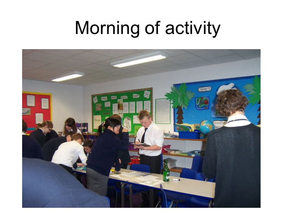 Morning of activity