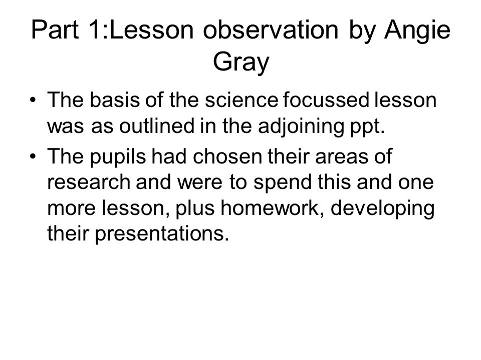 Specific feedback on the topics covered and new facts learnt.