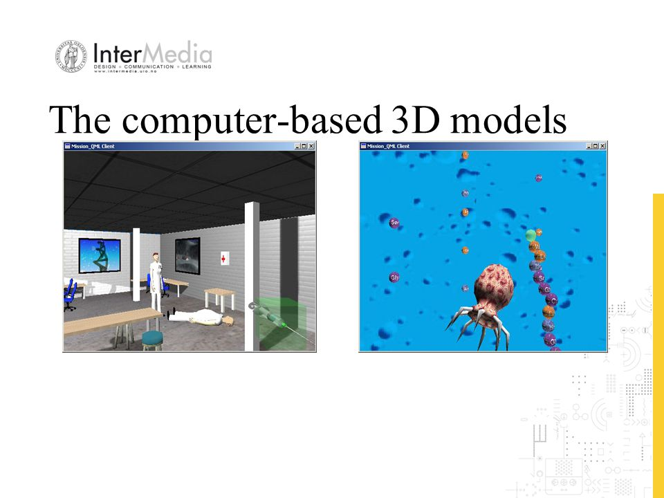 The computer-based 3D models