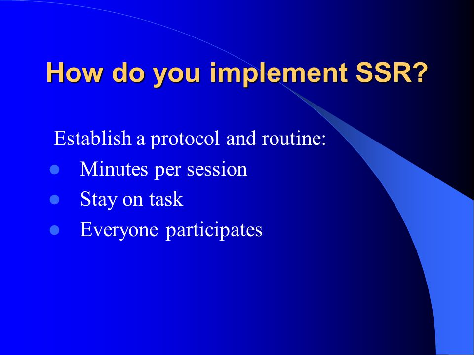 How do you implement SSR.