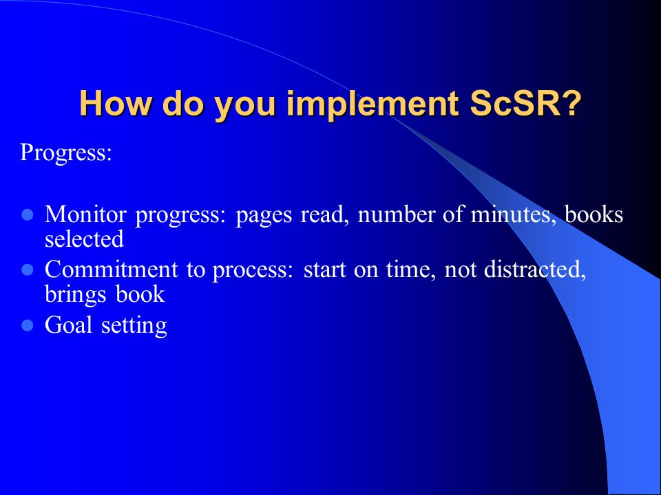 How do you implement ScSR.