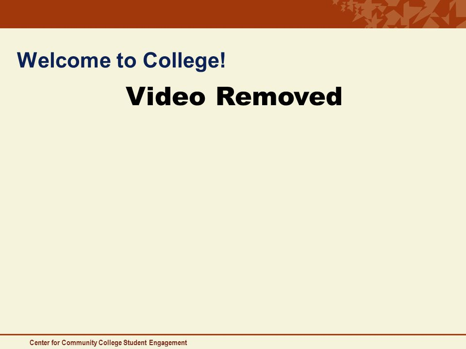 Welcome to College! Video Removed