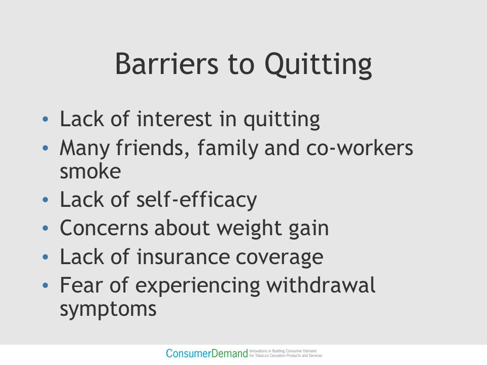Attitudes about methods for quitting smoking Commonly-held view that single most important determinant of a successful quit is the strong desire and commitment to quit.