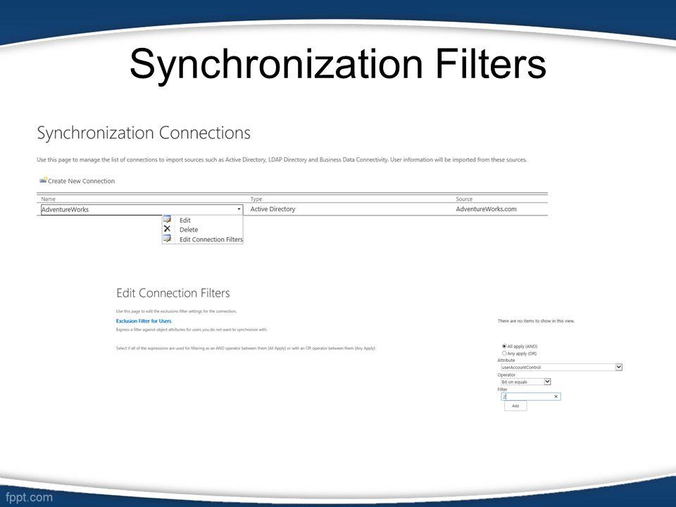 Synchronization Filters