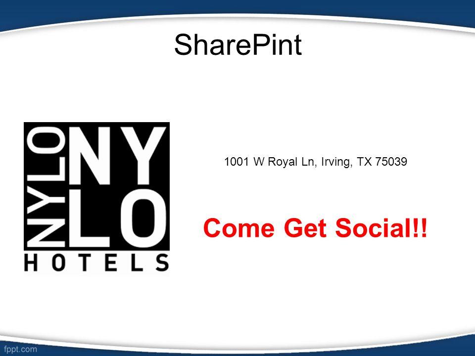 SharePint 1001 W Royal Ln, Irving, TX 75039 Come Get Social!!