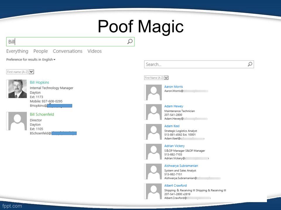Poof Magic