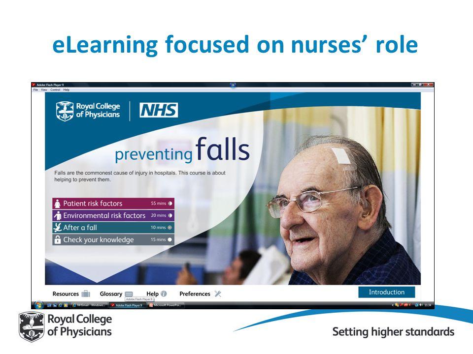 eLearning focused on nurses' role