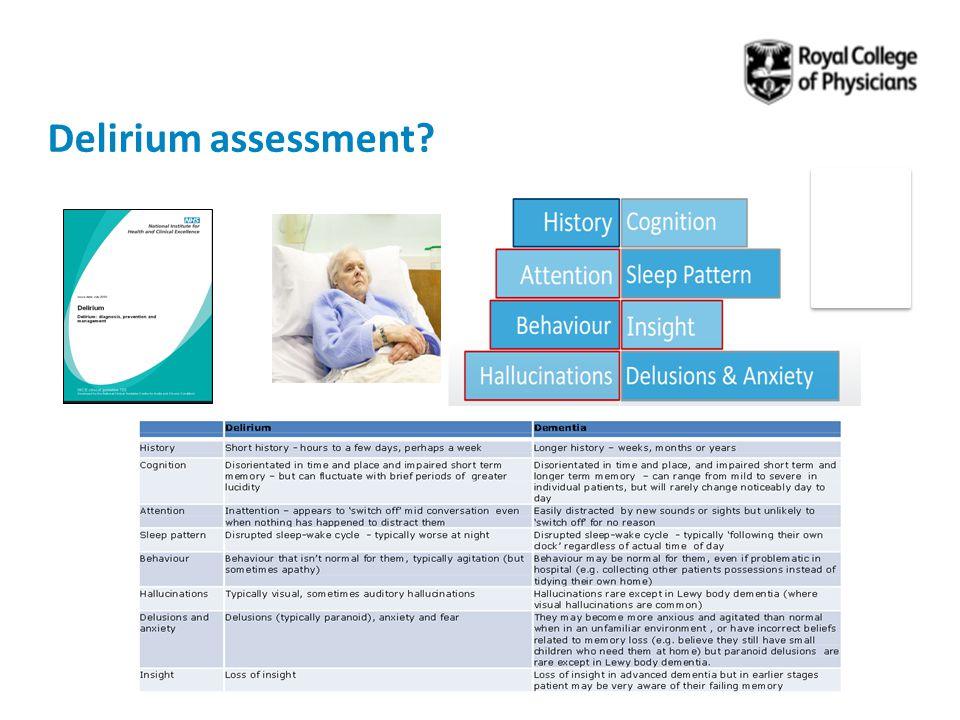 Delirium assessment?
