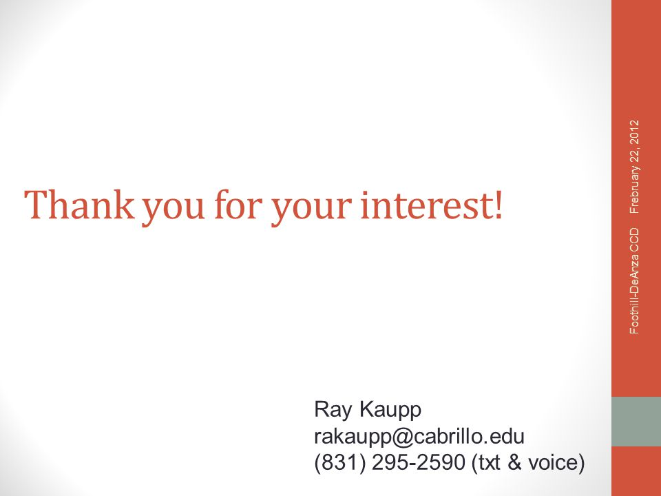 Thank you for your interest.