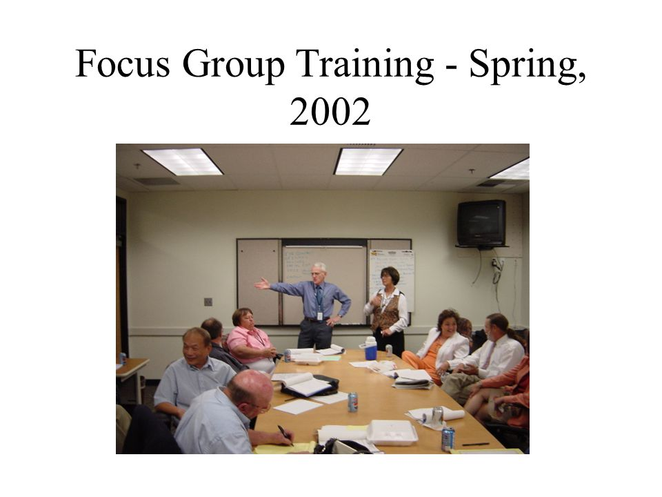 Focus Group Training - Spring, 2002