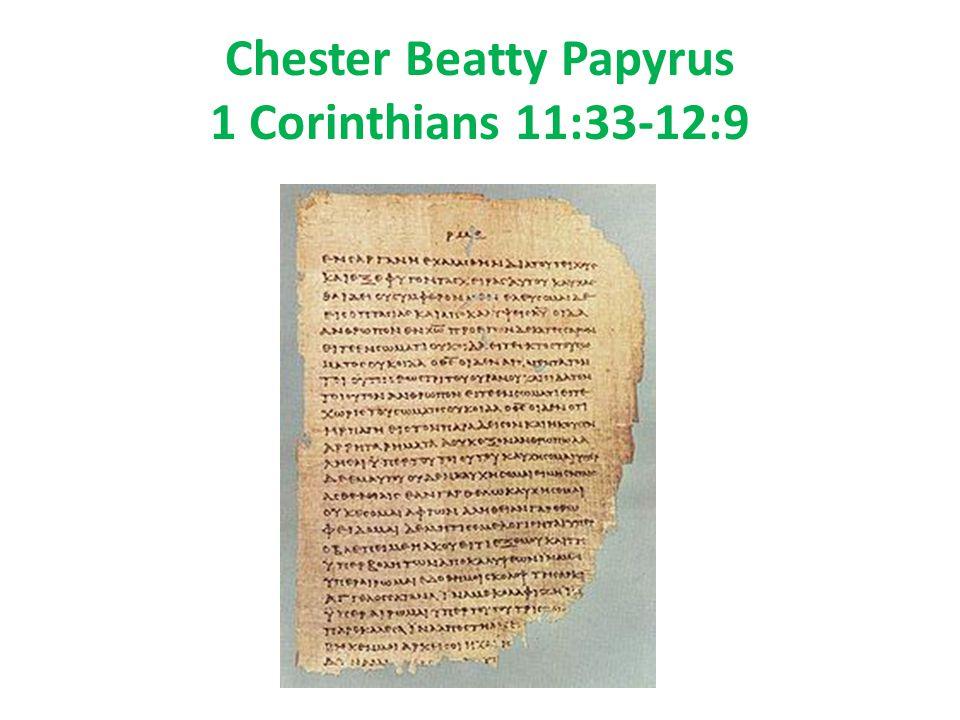 Chester Beatty Papyrus 1 Corinthians 11:33-12:9
