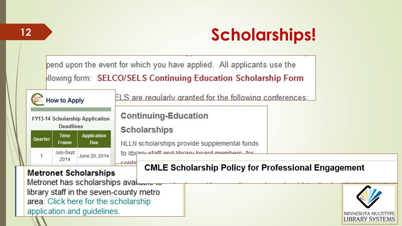 Scholarships! 12