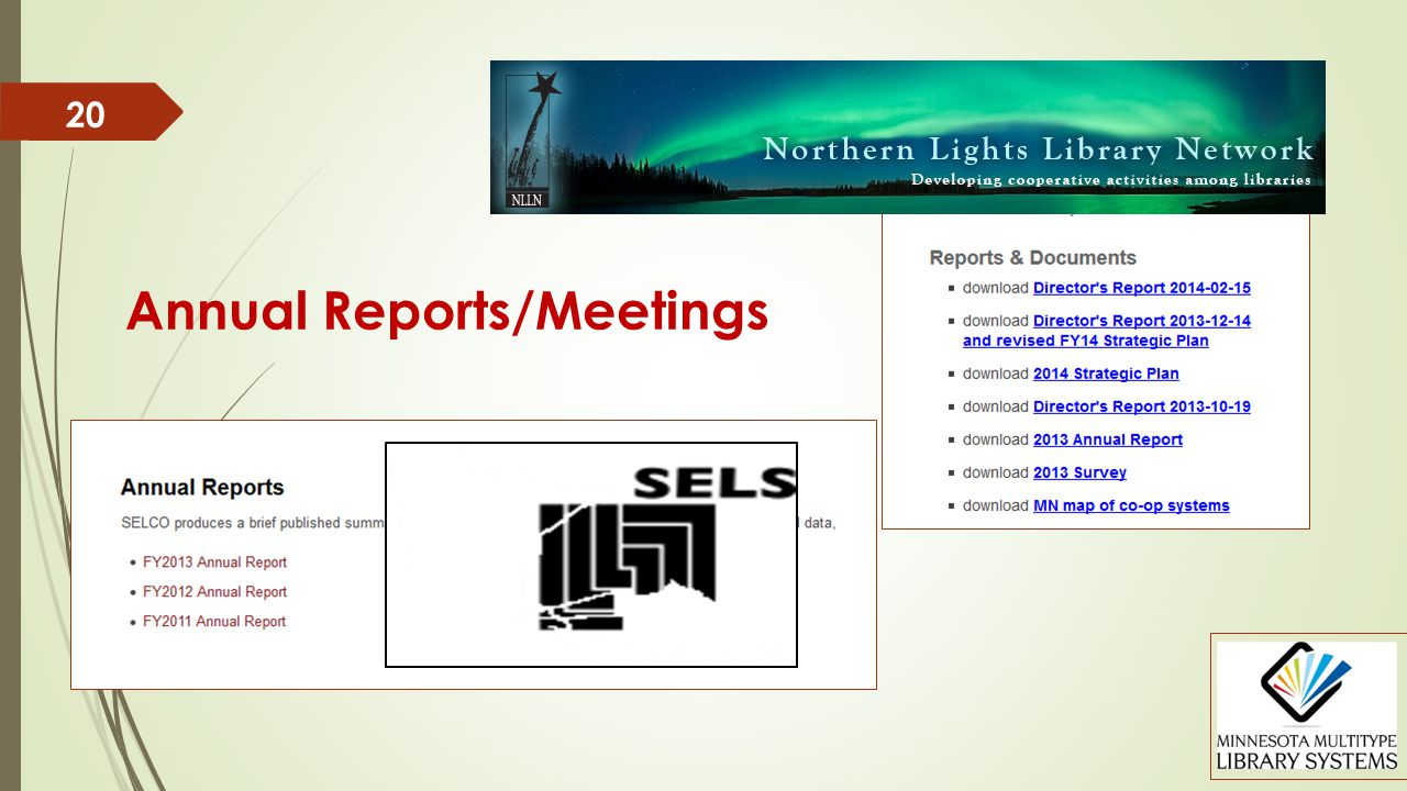 20 Annual Reports/Meetings