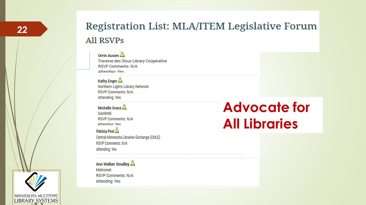 22 Advocate for All Libraries