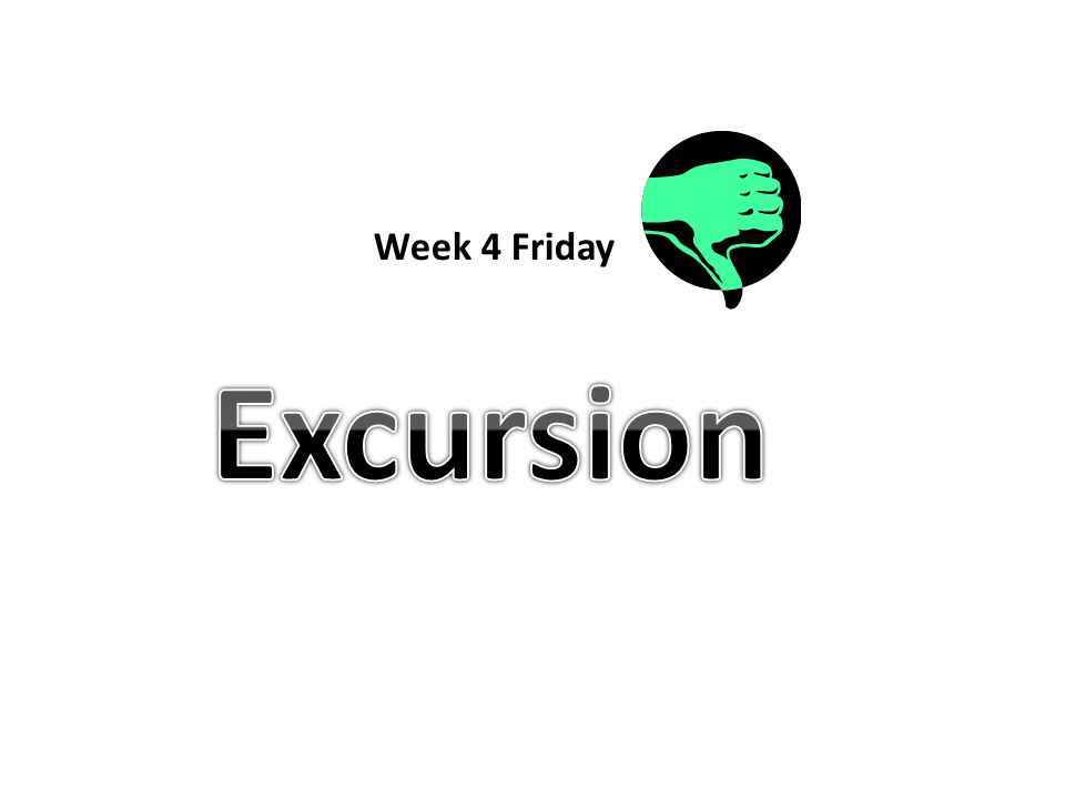 Week 4 Friday