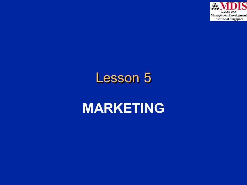 Lesson 5 MARKETING