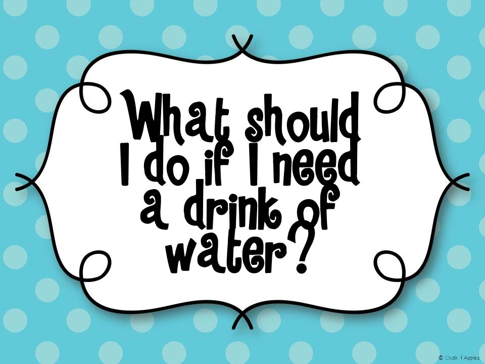 What should I do if I need a drink of water? © Chalk & Apples