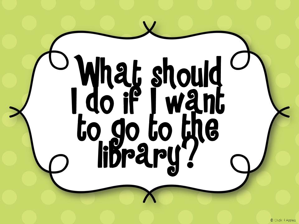 What should I do if I want to go to the library? © Chalk & Apples