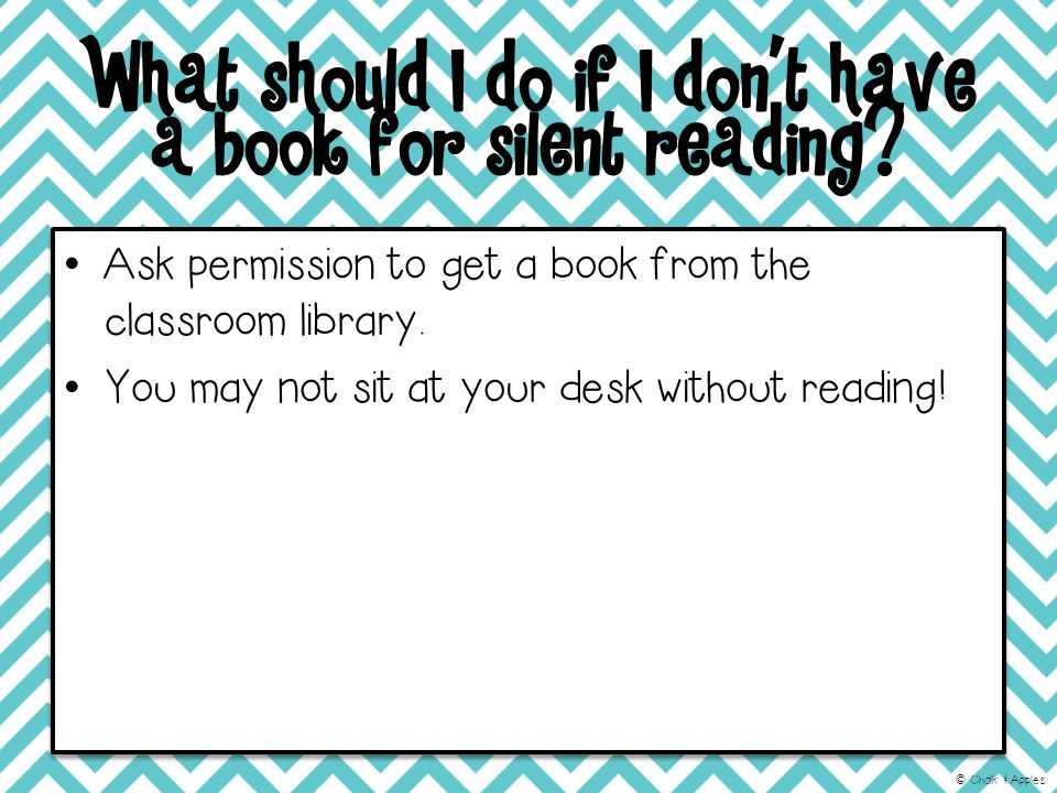 What should I do if I don't have a book for silent reading.