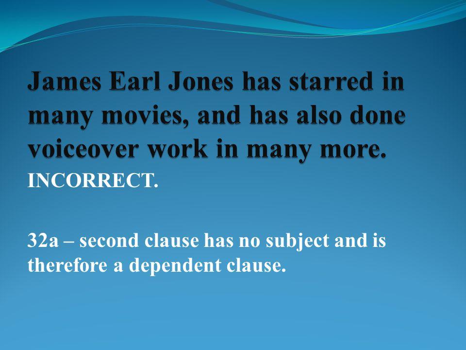 INCORRECT. 33h – Commas always follow, never precede, parentheses.
